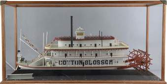 Large Cotton Blossom Paddle Boat Model In Case