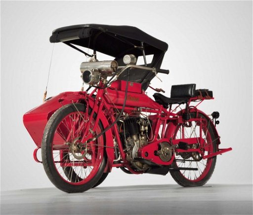 1916 Indian V-Twin Motorcycle & Side Car #88H589