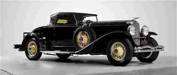 1929 Duesenberg J Convertible Coupe, Rumbleseat.