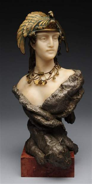 Carl Kauba Bronze and Marble Bust.