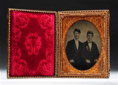 Ambrotype of 2 Civil War Union Soldiers