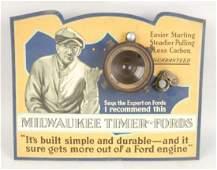 Milwaukee Timer Ford's Tin Sign.
