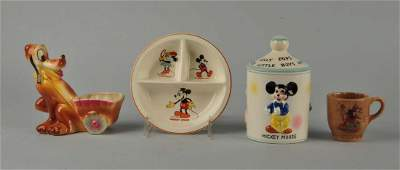 Lot Of 4: Disney Ceramic Items.