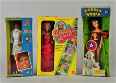 Lot Of 3: Character Dolls In Boxes