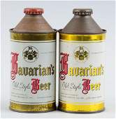 Lot Of 2: Bavarian's Old Style Beer Cone Top Cans.