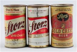 Lot Of 3: Storz Flat Top Beer Cans.