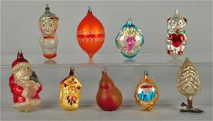 Lot Of 9 Vintage Christmas Ornaments