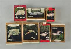 Lot Of 7 Star Trek Keepsake Ornaments