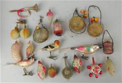 Large Lot Of Early Christmas Ornaments