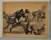 "Ink Wash ""20th Century Football John Guthrie."