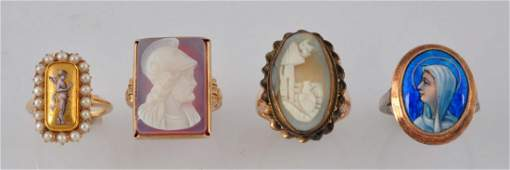 Lot Of 4 Victorian Rings