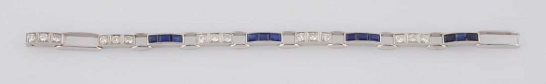 Diamond & Sapphire Bracelet.