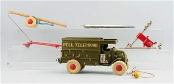 Cast Iron Hubley Bell Telephone Truck