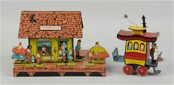 Lot Of 2: Contemporary Toonerville Trolley Items.