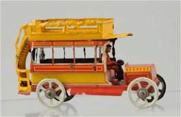 German Tin Litho Double Decker Bus Penny Toy
