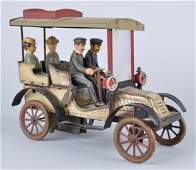 German Tin Litho Clockwork Carette Limousine.