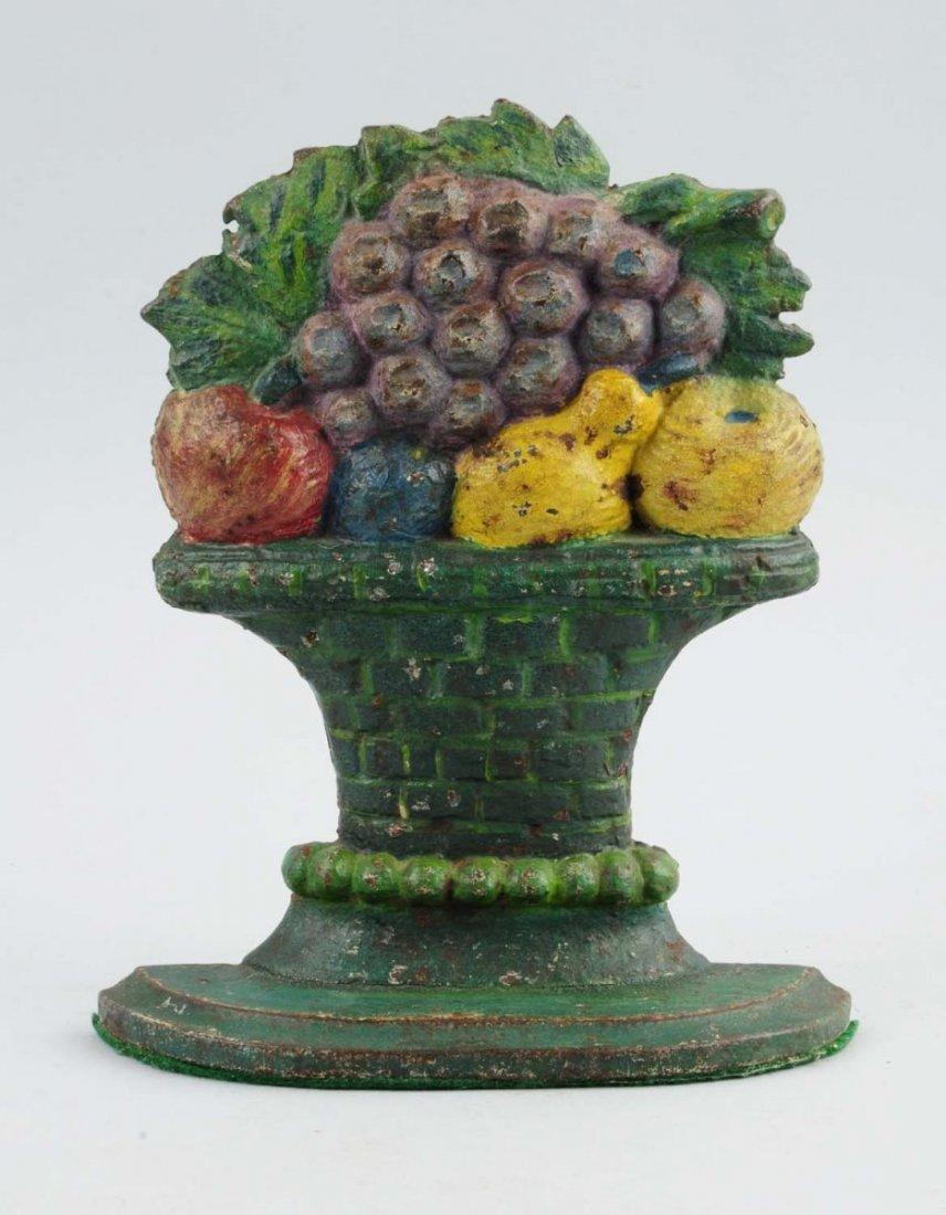 Cast Iron Mixed Fruit in Urn Doorstop.
