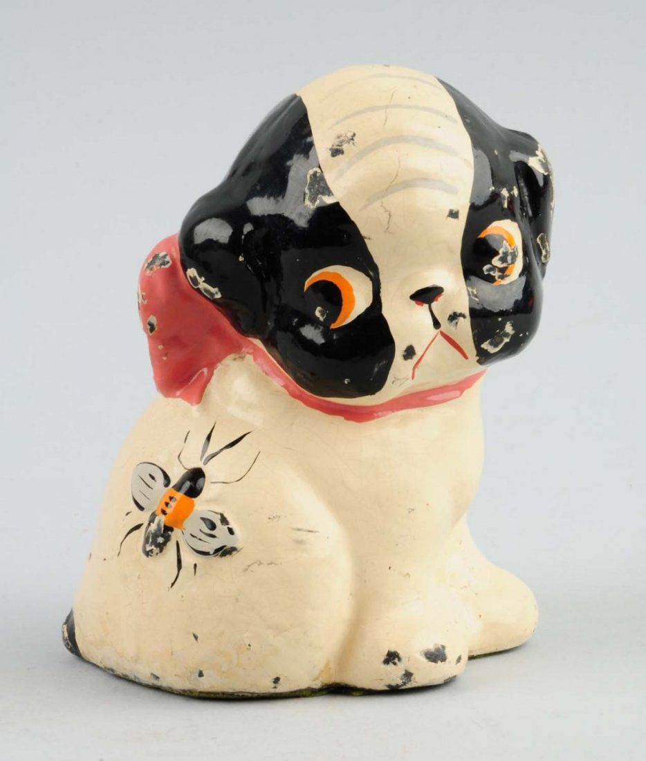 Cast Iron Boston Terrier Pup with Bee on Hip