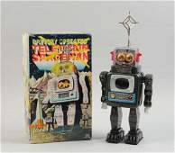 Japanese Tin Litho Battery Op Television Spaceman