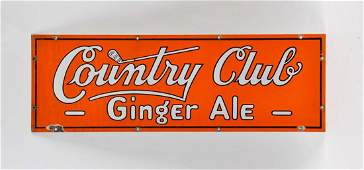 Country Club Ginger Ale Porcelain Sign
