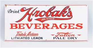 Hrobaks Beverages Tin Advertising Sign