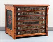 Willimantic Advertising Spool Thread Cabinet