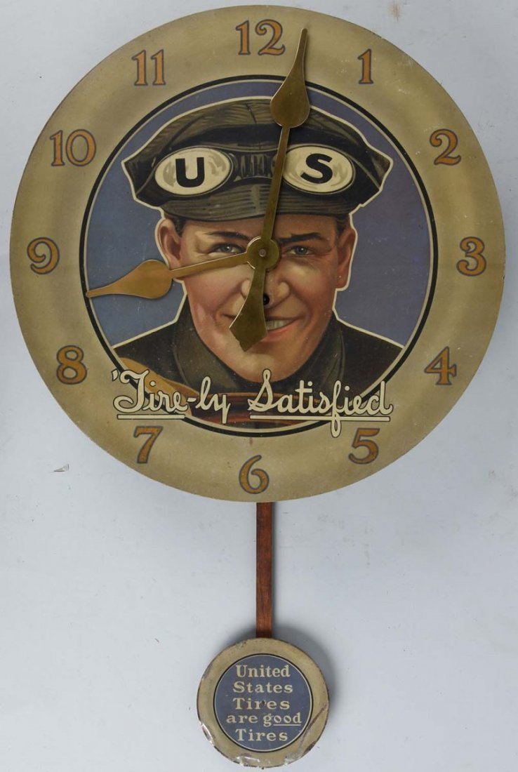 1912 US Tires Advertising Clock.