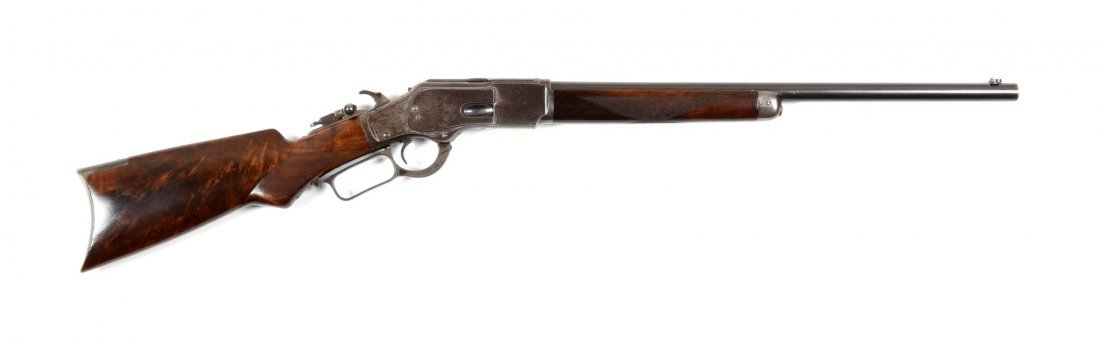 Winchester Model 1873 Deluxe Short Rifle (A).
