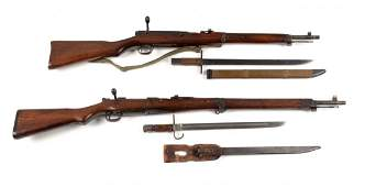 Lot Of 2: Japanese Bolt Action Military Rifles (C)