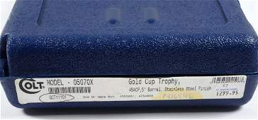 Boxed Colt Gold Cup Trophy Model 1911 Pistol (M).