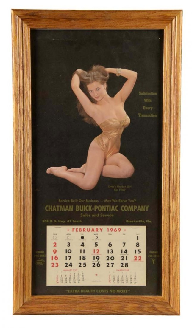 1969 Buick Automotive Advertising Calendar