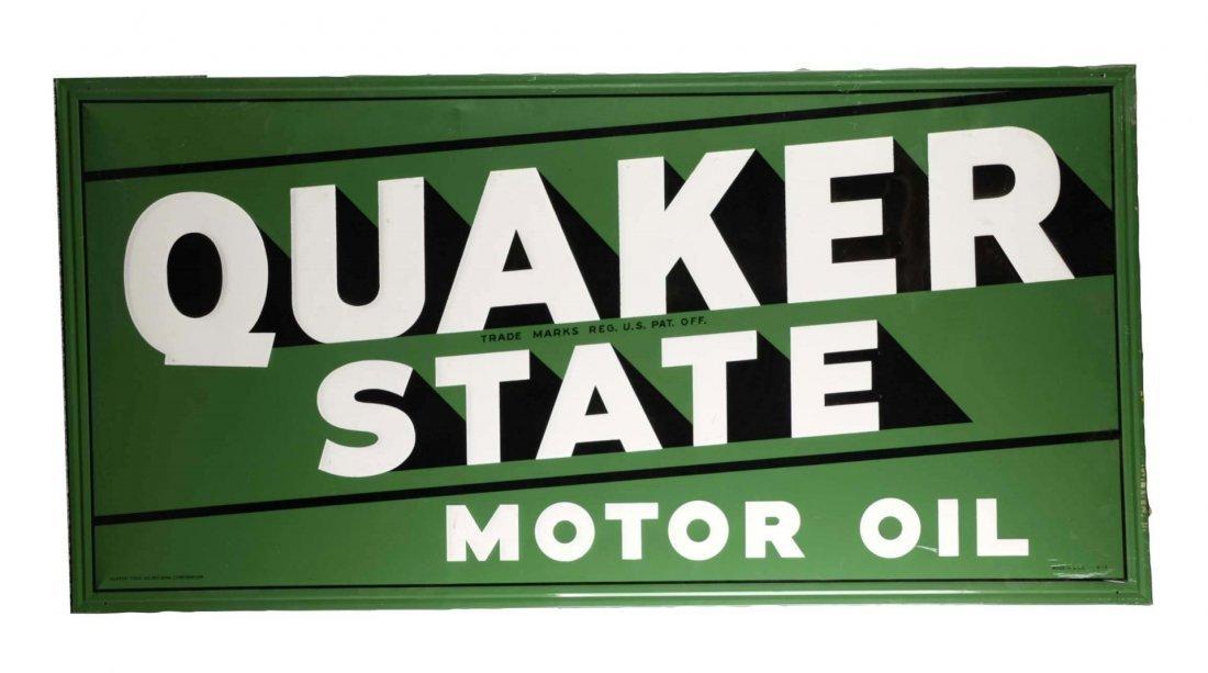 Quaker State Motor Oil Tin Sign