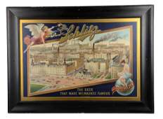 Schlitz Beer Brewery Litho Advertising Poster