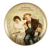 Ruhstaller's Round Tin Serving Tray