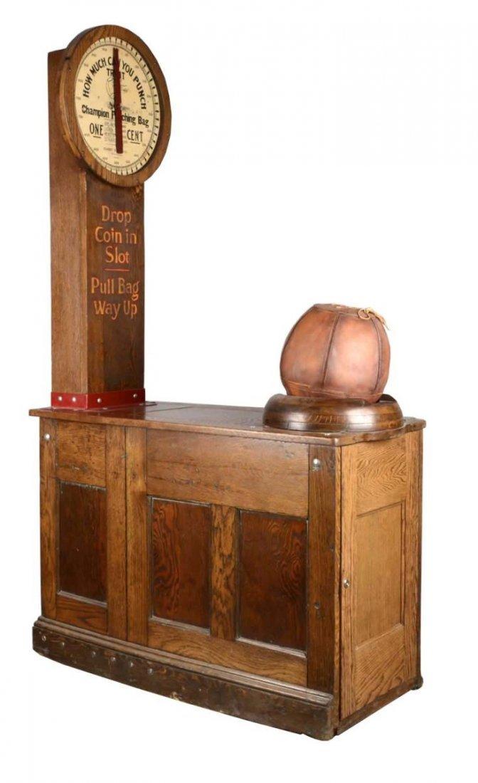 1¢ Champion Punching Bag Arcade Machine