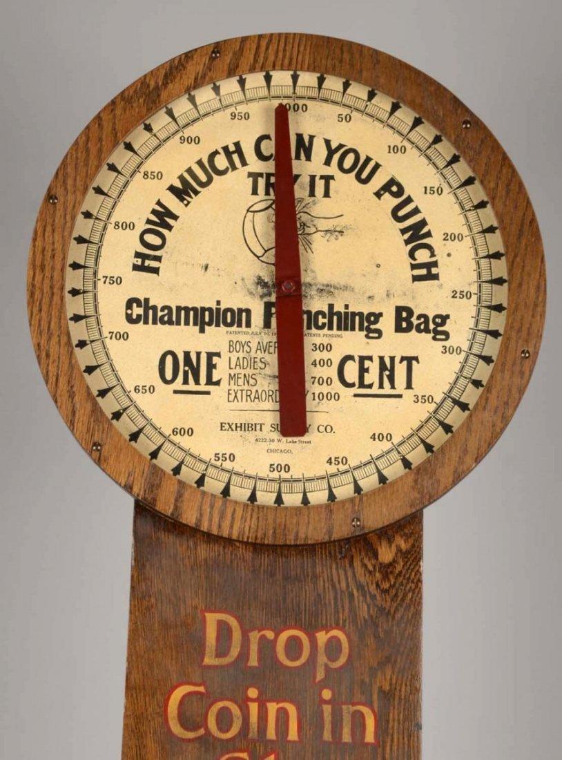 1¢ Champion Punching Bag Arcade Machine - 6