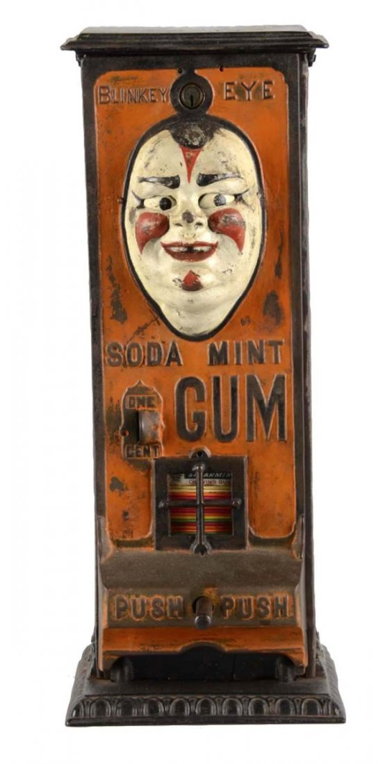 1¢ Standard Gum Machine Wks Blinkey Eye Gum Vendor
