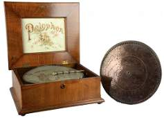 Polyphon Music Box And Metal Disks