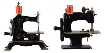 Lot Of 2: Singer Child's Toy Sewing Machines