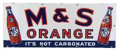 MS Orange Porcelain Advertising Sign