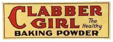 Clabber Girl Baking Powder Tin Advertising Sign