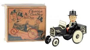 Marx Charlie McCarthy Benzine Buggy Tin Litho Toy