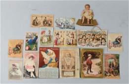 Large Lot Vintage Paper Advertising Trade Cards