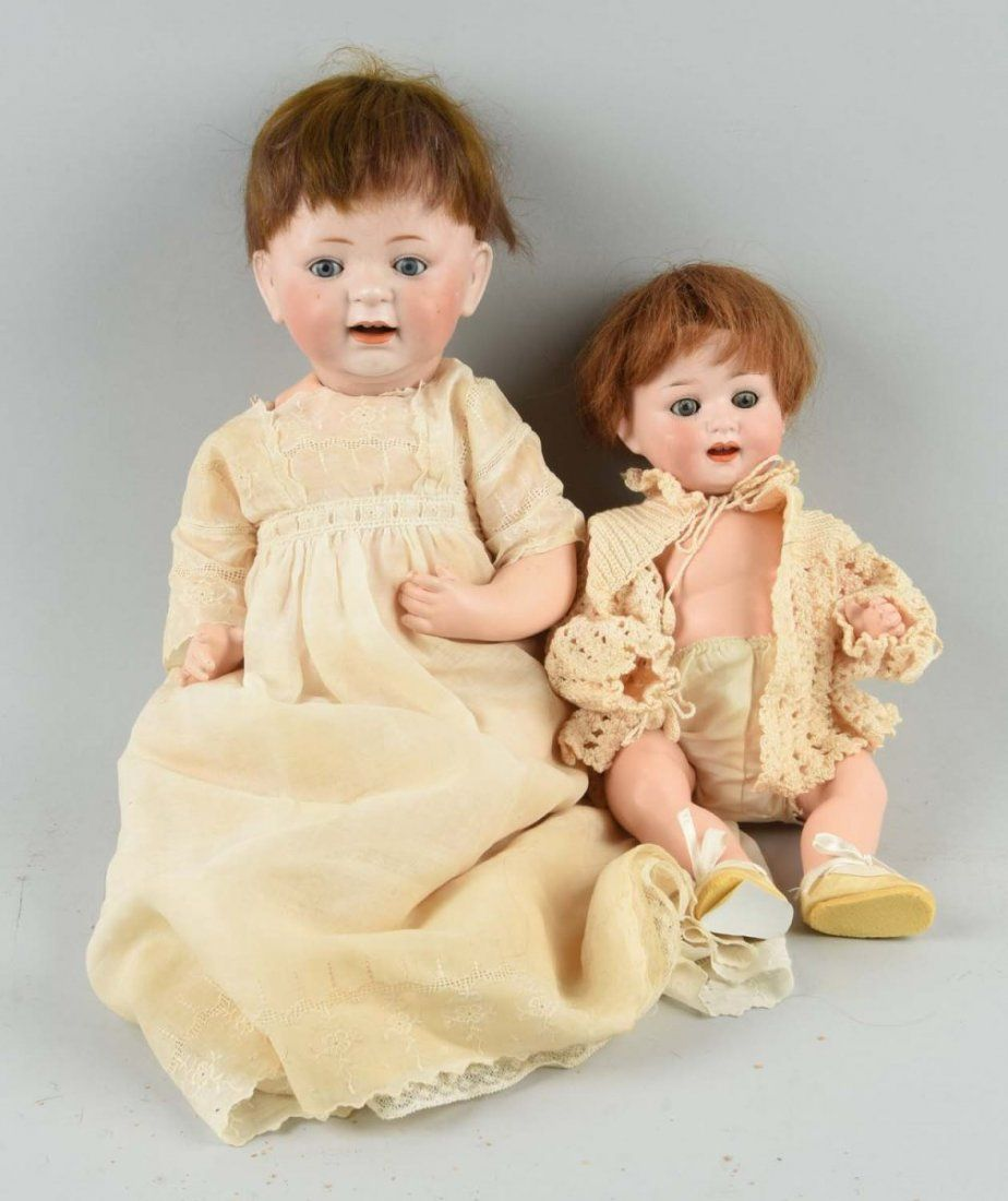 Lot Of 2: Antique German Character Babies.