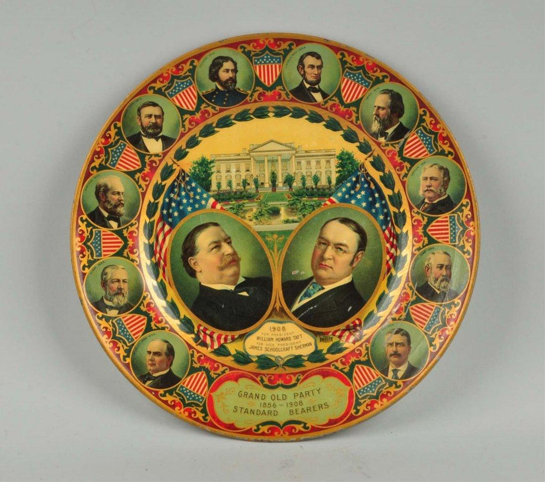 Tray for William Howard Taft & James Sherman.