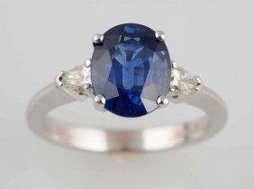 3 Ct. Sapphire & Diamond Ring.
