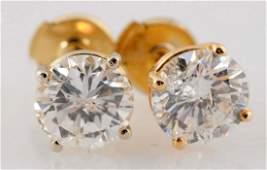 2.36 ct. Diamond Stud Earrings.