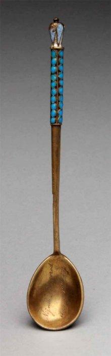 Russian Enameled Spoon.