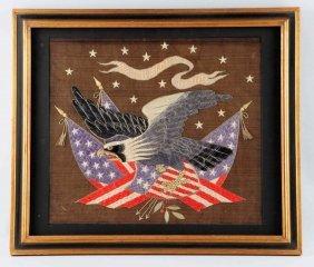Woolie Sailor Silkwork Art.