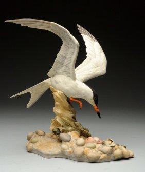 Boehm Porcelain Seagull Sculpture.
